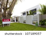 luxury house for sale | Shutterstock . vector #107189057