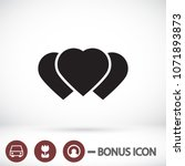 vector icon heart 10 eps   Shutterstock .eps vector #1071893873