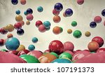 Bouncing Gumballs Isolated On...
