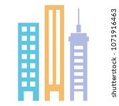 buildings cityscape isolated... | Shutterstock .eps vector #1071916463
