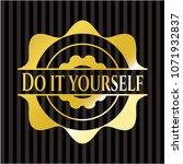 do it yourself shiny emblem | Shutterstock .eps vector #1071932837