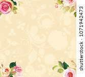 seamless floral pattern with... | Shutterstock .eps vector #1071942473