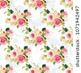 seamless floral pattern with... | Shutterstock .eps vector #1071942497