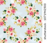 seamless floral pattern with... | Shutterstock .eps vector #1071942503