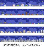 vector night view illustration... | Shutterstock .eps vector #1071953417
