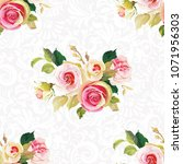 seamless floral pattern with... | Shutterstock .eps vector #1071956303
