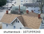 high angle view of old houses... | Shutterstock . vector #1071959243