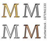 assorted metallic color shiny...   Shutterstock . vector #1071961133
