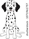 cartoon cute dalmatian dog | Shutterstock .eps vector #1071961757