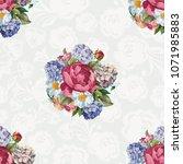 beautiful floral seamless... | Shutterstock .eps vector #1071985883
