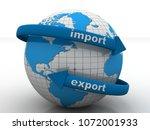 3d illustration earth globe...   Shutterstock . vector #1072001933