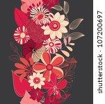 abstract vertical flower... | Shutterstock .eps vector #107200697