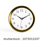 classic wall clock on a white... | Shutterstock . vector #1072012247
