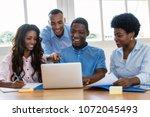 successful african american...   Shutterstock . vector #1072045493