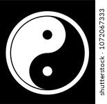 ying yang symbol of harmony and ... | Shutterstock .eps vector #1072067333