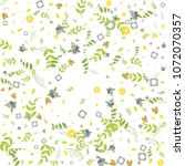 floral spring and summer vector ... | Shutterstock .eps vector #1072070357