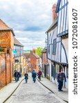lincoln  united kingdom  april... | Shutterstock . vector #1072081607