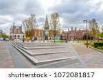 leicester  united kingdom ... | Shutterstock . vector #1072081817