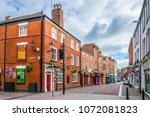 leicester  united kingdom ... | Shutterstock . vector #1072081823