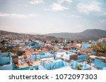 blue city chefchaouen best...   Shutterstock . vector #1072097303