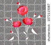 elegant checkered print with...   Shutterstock .eps vector #1072115087