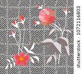 elegant checkered print with... | Shutterstock .eps vector #1072116803