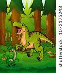 tyrannosaurus on the background ... | Shutterstock .eps vector #1072175243