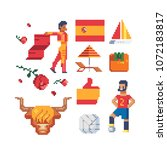 travel to spain icons part 2 ... | Shutterstock .eps vector #1072183817