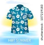 hawaiian shirt  marine color....   Shutterstock .eps vector #107219183