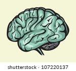 human brain | Shutterstock . vector #107220137