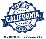 made in california round seal | Shutterstock .eps vector #1072217153