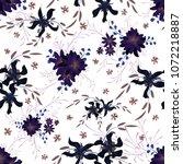 little floral seamless pattern... | Shutterstock .eps vector #1072218887