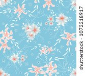 small floral seamless pattern... | Shutterstock .eps vector #1072218917