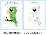 coloring book page for ... | Shutterstock .eps vector #1072223537