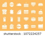 fast food  sandwich such as...   Shutterstock .eps vector #1072224257