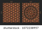 laser cutting set. woodcut...   Shutterstock .eps vector #1072238957