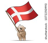 happy bear cartoon or mascot... | Shutterstock .eps vector #1072250993