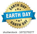 earth day round isolated gold... | Shutterstock .eps vector #1072270277