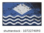a grunged isle of wight flag... | Shutterstock .eps vector #1072274093