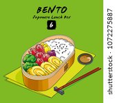 vector illustrations of bento...   Shutterstock .eps vector #1072275887