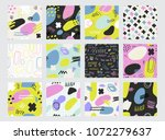 hand drawn textures made with... | Shutterstock .eps vector #1072279637