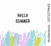 hello summer tropical banner... | Shutterstock .eps vector #1072279643
