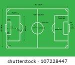 bird eye view of soccer ... | Shutterstock .eps vector #107228447