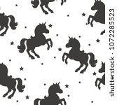seamless pattern with black... | Shutterstock .eps vector #1072285523