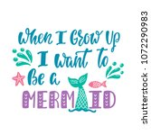 when i grow up i want to be a...   Shutterstock .eps vector #1072290983