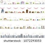 vector city illustration set | Shutterstock .eps vector #1072293053