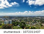 auckland suburbs view from... | Shutterstock . vector #1072311437