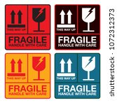 fragile handle with care sign ... | Shutterstock .eps vector #1072312373