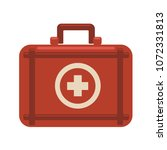 red medicine chest with white...   Shutterstock .eps vector #1072331813