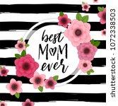 happy mother's day elegant... | Shutterstock .eps vector #1072338503